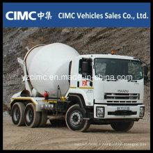 Camion malaxeur Isuzu Qingling Vc46 avec réservoir mélangeur 8-12 M3