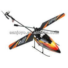helicóptero rc 2.4G 4CH cuchilla simple wl juguetes Gyro RC MINI exterior r / c helicóptero con LCD y 2 baterías v911 helicóptero