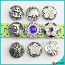 O estilo novo Metal Snaps Charm Button Jewelry
