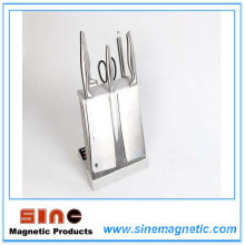 Venta directa de la fábrica del tenedor de cuchilla magnético de la cocina del acero inoxidable