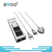 Carga USB de 4 puertos con 2 enchufes universales para Smartphone
