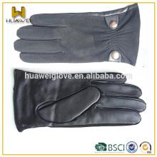 Großhandel billige Herren-Mode Schaffell Handschuhe Wildleder Leder Handschuhe auf der Rückseite