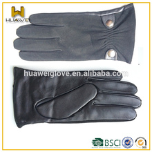 Vente en gros de gants en peau de mouton à la mode pour hommes en cuir de suède en cuir