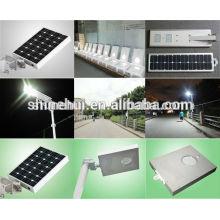 Precio de fábrica 8w todo en un sensor de movimiento solar de la luz de calle