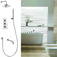 UK contemporary Thermostatic shower faucet with rain shower