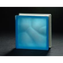 190 * 190 * 80mm Acid Blue Bewölkter Glasblock / Tijolo De Vidro