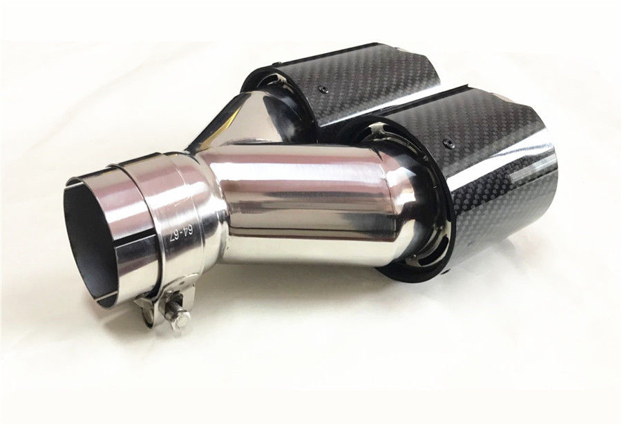 Dual Outlets Carbon Fiber Exhaust Tips