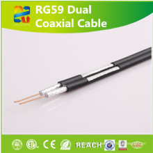 Câblage structuré de câble coaxial de Rg59 avec la portée / RoHS a approuvé