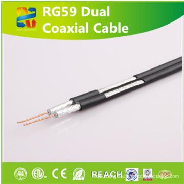 Koaxialkabel Rg59 Strukturierte Verkabelung mit Reichweite / RoHS genehmigt