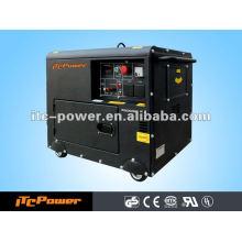 5kva luftgekühlter tragbarer schallisolierter Dieselmotor-Generator stellte drei Phasen 50HZ / 60HZ ein