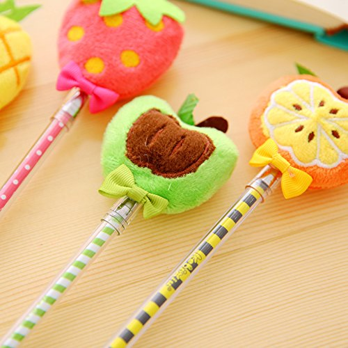 Plush Fruit Gel Pen 2