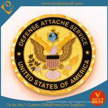 Benutzerdefinierte Gold Plated Eagle Coin
