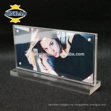 Material de acrílico magnético claro del marco de la foto de Jinbao