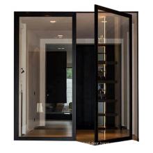 Good  performance french casement door main door designs 2011 aluminium profile tempered glass spring door