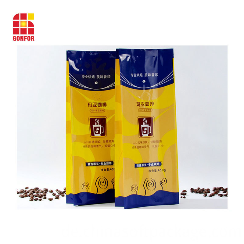 Coffee Quad Sealed Packaging Bag With Side 000101074