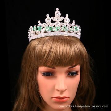 Corona de cristal de las tiaras del rhinestone de la boda de la novia de la alta calidad