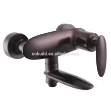 Ке-040 Китая установленная поверхность ванной комнаты твердой латуни Роуз золотой душ и ванна кран двойной отверстия, керамический клапан смеситель для душа