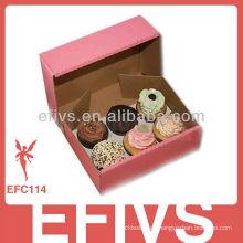 Romántico personalizado impresa Cup Cake Box al por mayor