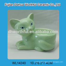 Fashionable green fox shaped ceramic egg tray,ceramic egg holder