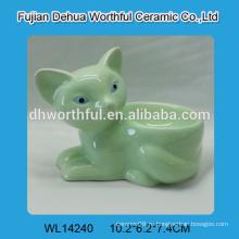 Модная зеленая керамическая подставка для яиц, керамический держатель яйца