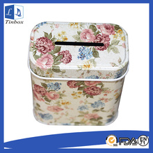 Petty Metal Cash Tin Box With Hole