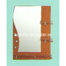 Miroir de salle de bain en verre argenté (81001)