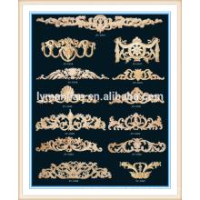 Marco de madera antiguo de la cama de la antigüedad del moldeado decorativo de madera más vendido del chino