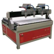Wood cnc router of double headed JK-1212-3