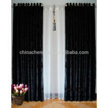 Dernier rideau de rideau en tissu de velours à rideau noir