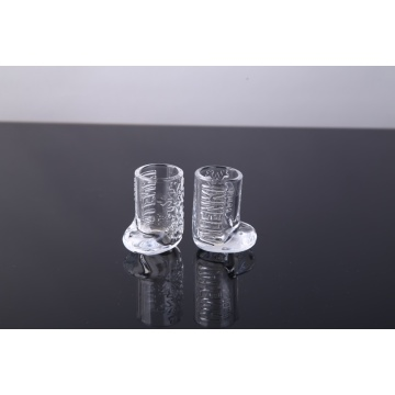 handgefertigte, stiefelförmige Schnapsglasschale für Spiritus