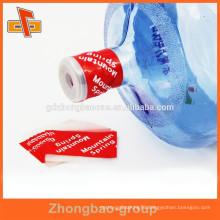 Easy open&shrink water bottle cap seal label with tear tape