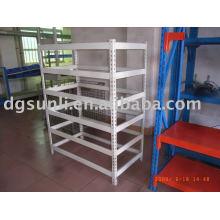 Slotted angle shelving