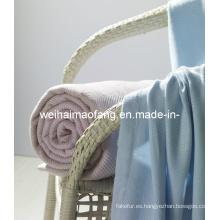 Tiro de manta/tejido de bambú de bambú 100%