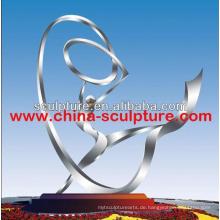 Edelstahl Skulptur große Metall Garten Skulptur abstrakte Skulptur