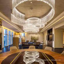 Modern Large Hanging Crystal Light Flush Mount Lighting Glass Chandelier