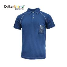 Темно-синяя футболка с карманом для карточек