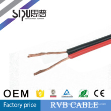 SIPU factory price red and black 2 core flat speaker cable RVB cable