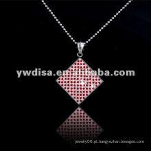 Nova chegada de moda em aço inoxidável pingente colar