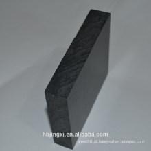 Folha / placa plásticas rígidas pretas do PVC