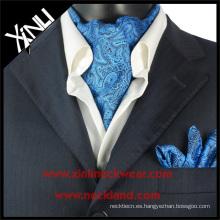 Azul Paisley Seda Kravat Turquía, seda corbata
