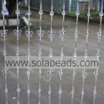Cool 16MM&30MM&6MM&28MM  Wire Crystal Plastic Bead Garland Trim