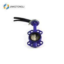JKTLWD013 double eccentricity stainless steel threaded butterfly valve