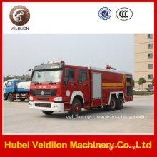 Caminhão de bombeiros da movimentação de HOWO 6X4 LHD / Rhd 10m3 / 10cbm / 10000liters