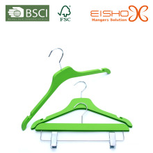 New Plastic Hangers Various Color and with Clips