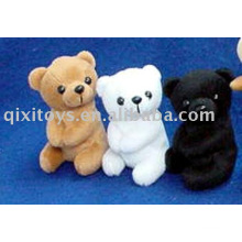 stuffed bear clip toy mini animal clip