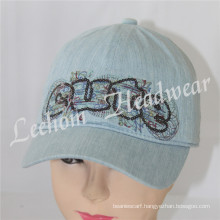 Fashion Kids Jeans Caps with Sequins
