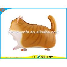 Gato del globo de la hoja del juguete del globo del animal doméstico de la caminata de la alta calidad para el regalo de la Navidad