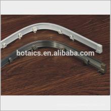 Barra de la cortina de ducha curvada de aluminio, barras de cortina curvadas de aluminio, cortina de la pista del metal cortina de la rueda cortina de la pista / carril de la cortina