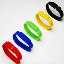 Vente en gros Bracelet en caoutchouc silicium USB Memory Stick