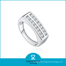 High Quality Bezel Setting 925 Silver Jewelry Ring Design (R-0207)